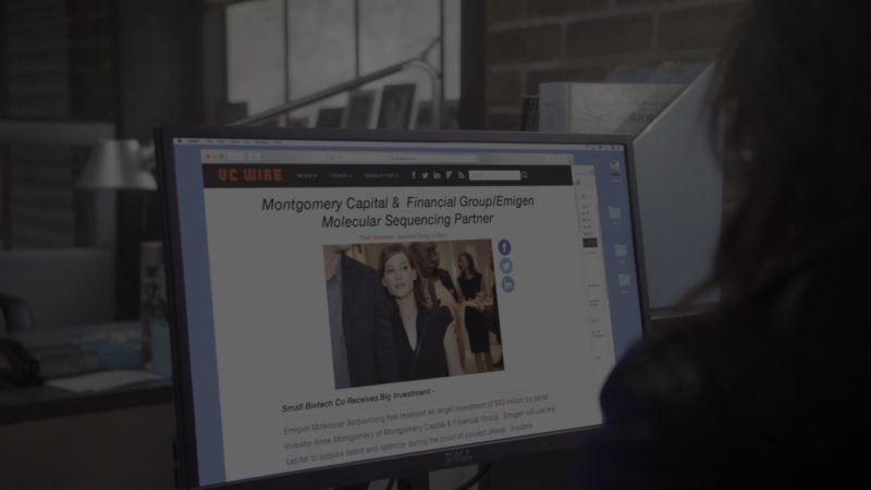Dell Computer Monitor Used by Daniella Pineda in What/If - Season 1, Episode 2, What Now (2019) - TV Show Product Placement