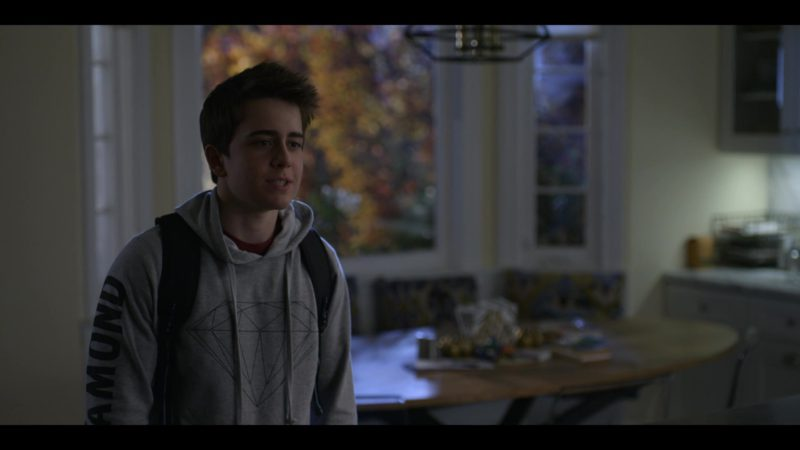 Diamond Hoodie Worn by Sam McCarthy in Dead to Me - Season 1, Episode 10 (2019) - TV Show Product Placement