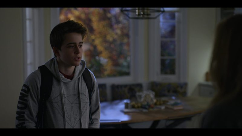Diamond Hoodie Worn by Sam McCarthy in Dead to Me - Season 1, Episode 10 (2019) TV Show Product Placement