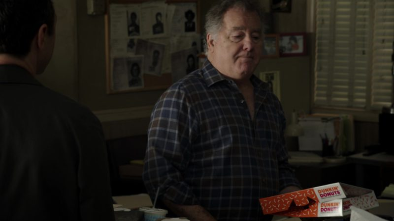 Dunkin' Donuts Box Held by Peter Gerety in Sneaky Pete - Season 3, Episode 5 (2019) - TV Show Product Placement