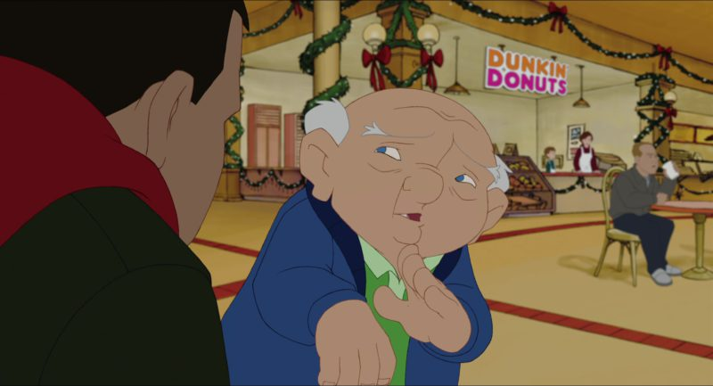Dunkin' Donuts in Eight Crazy Nights (2002) - Animation Movie Product Placement