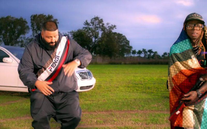Fendi Jacket Worn by DJ Khaled & Gucci T-Shirt, Cap and Scarf Worn by Lil Wayne (1)