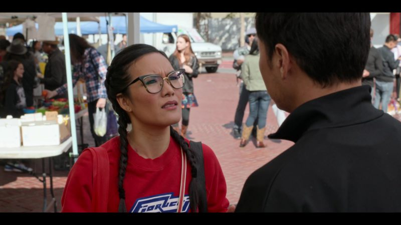 Fiorucci Red Sweatshirt Worn by Ali Wong in Always Be My Maybe (2019) - Movie Product Placement
