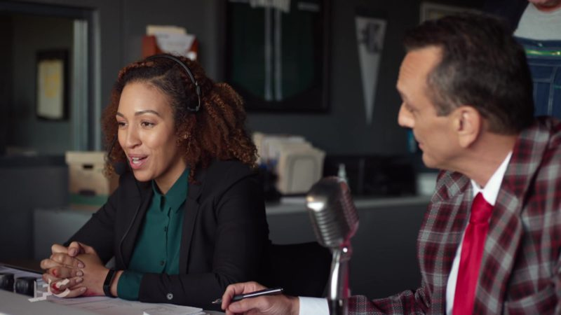 Fitbit Alta HR Activity Tracker + Heart Rate Worn by Tawny Newsome in Brockmire - Season 3, Episode 6, Placed on Waivers (2019) - TV Show Product Placement