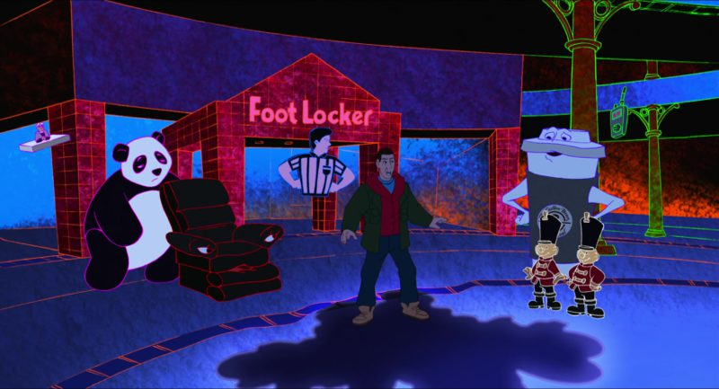 Foot Locker Store in Eight Crazy Nights (2002) Animation Movie Product Placement
