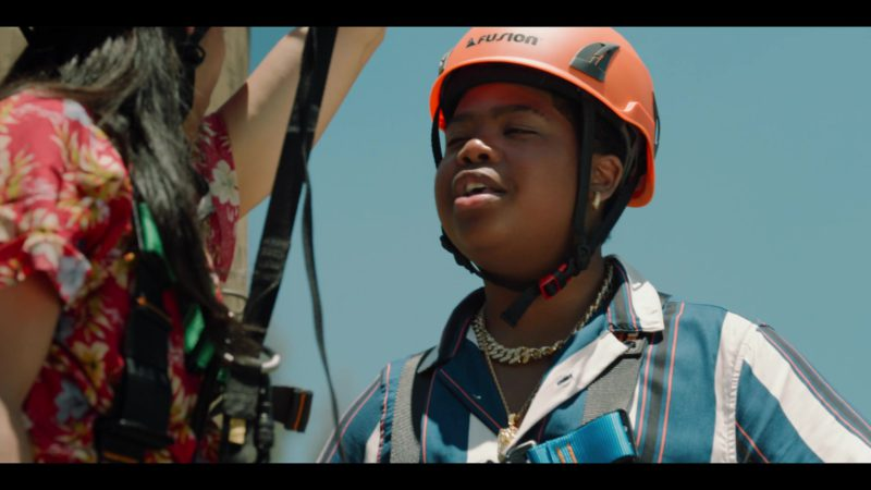 Fusion Climb Orange Helmet Worn by Benjamin Flores Jr. in Rim of the World (2019) - Movie Product Placement