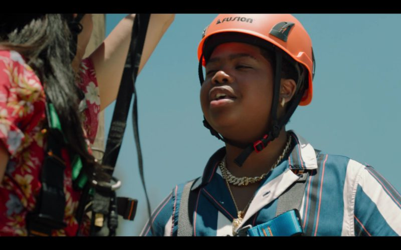 Fusion Climb Orange Helmet Worn by Benjamin Flores Jr in Rim of the World (1)