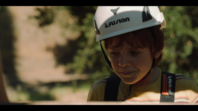 Fusion Climb White Helmet Worn by Jack Gore in Rim of the World (2019) - Movie Product Placement