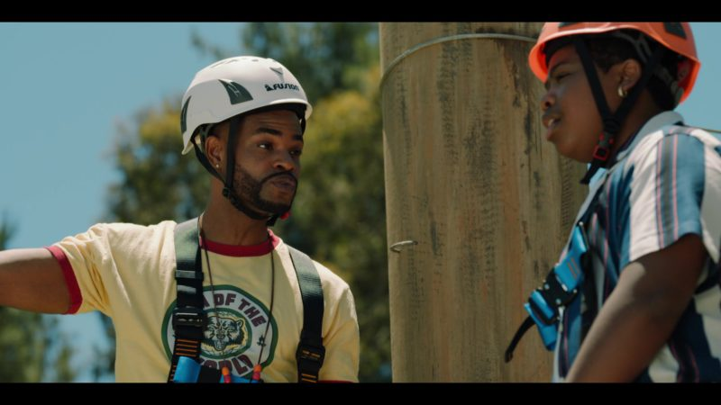 Fusion Climb White Helmet Worn by King Bach in Rim of the World (2019) Movie Product Placement