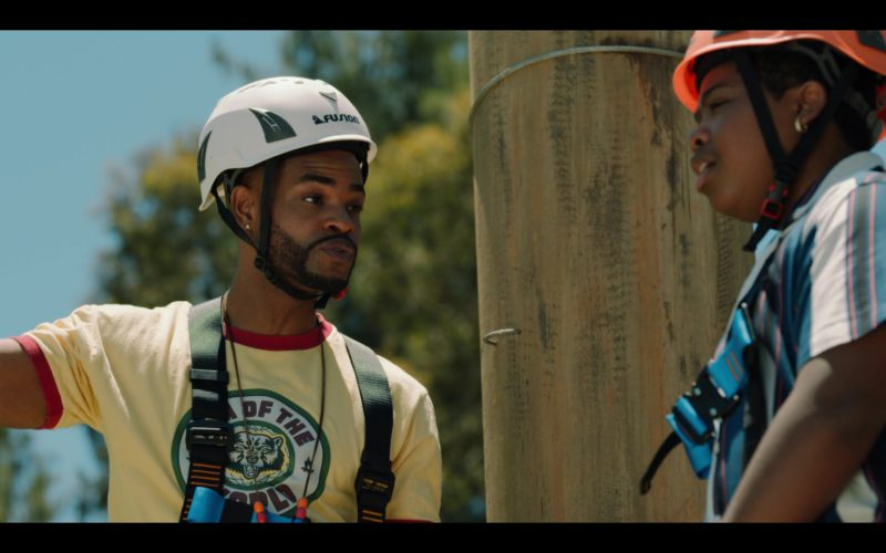 Fusion Climb White Helmet Worn by King Bach in Rim of the World