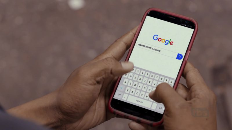 Google Mobile Search in The Last O.G. - Season 2, Episode 6, Keep Their Heads Ringing (2019) TV Show Product Placement
