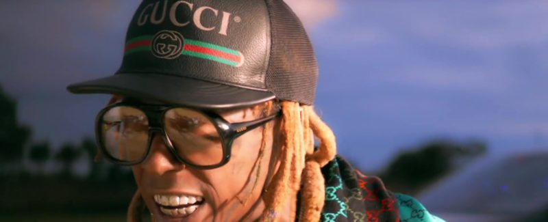 "Gucci Eyeglasses, Cap and Scarf Worn by Lil Wayne in ""Jealous"" by DJ Khaled ft. Chris Brown & Big Sean (2019) - Official Music Video Product Placement"