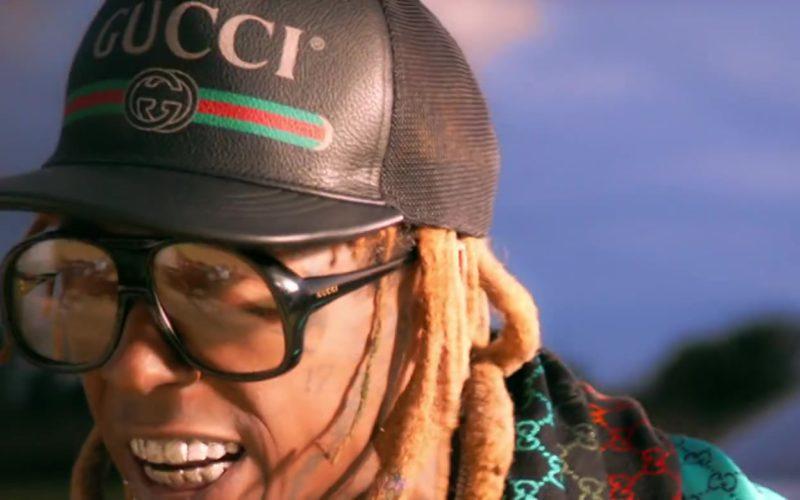Gucci Eyeglasses, Cap and Scarf Worn by Lil Wayne (2)