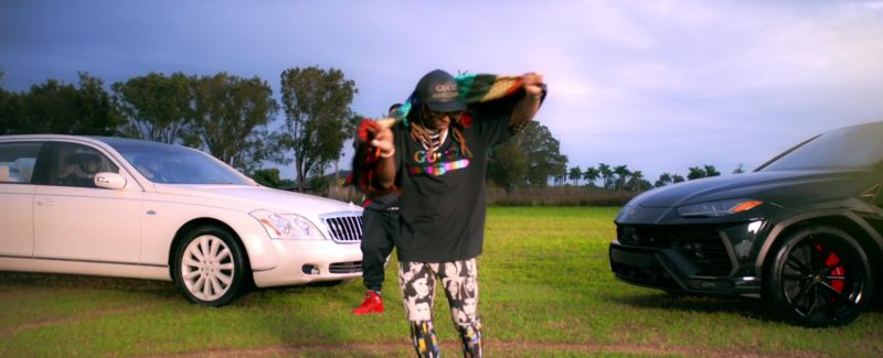 """Gucci T-Shirt, Cap and Scarf Worn by Lil Wayne in """"Jealous"""" (2019) - Official Music Video Product Placement"""
