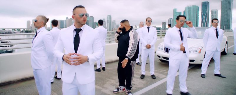 "Gucci Tracksuit (Black & White Color) and Nike Sneakers Worn by DJ Khaled  in ""Jealous"" (2019) - Official Music Video Product Placement"