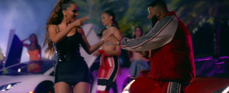 """Gucci Tracksuit (Red & White) Worn by DJ Khaled in """"Jealous"""" ft. Chris Brown, Lil Wayne, Big Sean (2019) - Official Music Video Product Placement"""