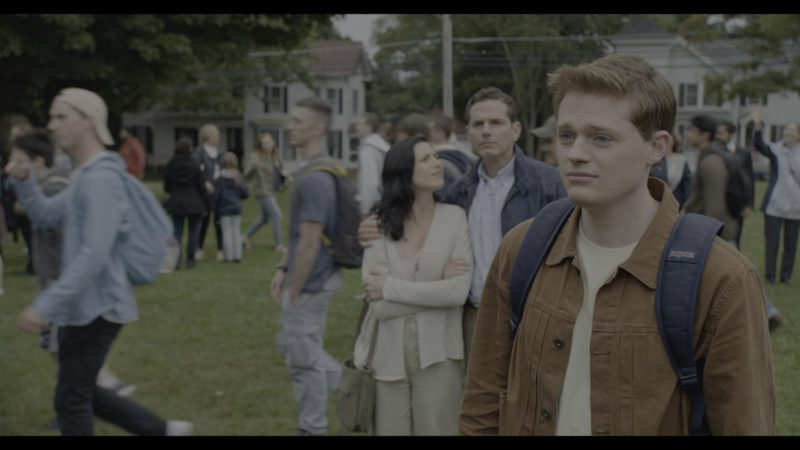 Jansport Backpack Used by Sean Berdy in The Society - Season 1, Episode 1, What Happened (2019) TV Show Product Placement