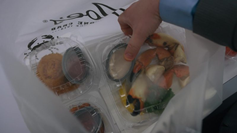 Joe's Stone Crab Restaurant Plastic Bags and Seafood in Billions - Season 4, Episode 10, New Year's Day (2019) - TV Show Product Placement