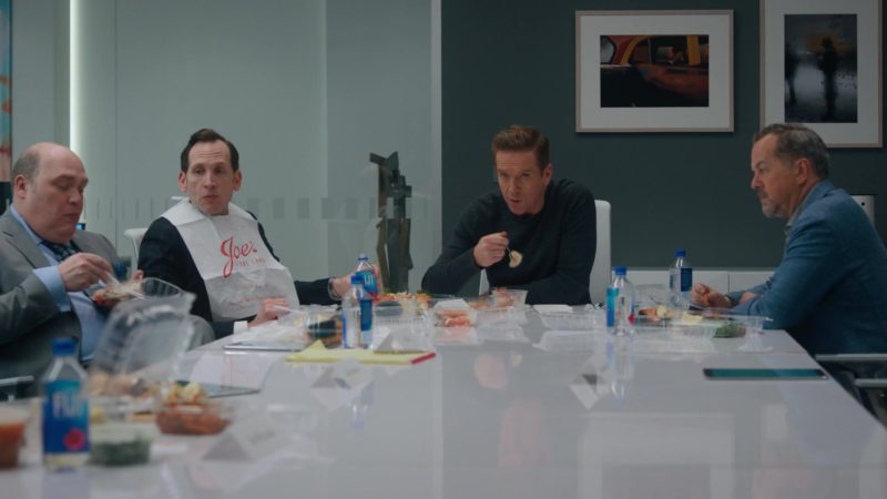 Joe's Stone Crab and Fiji Water in Billions - Season 4, Episode 10, New Year's Day (2019) TV Show Product Placement