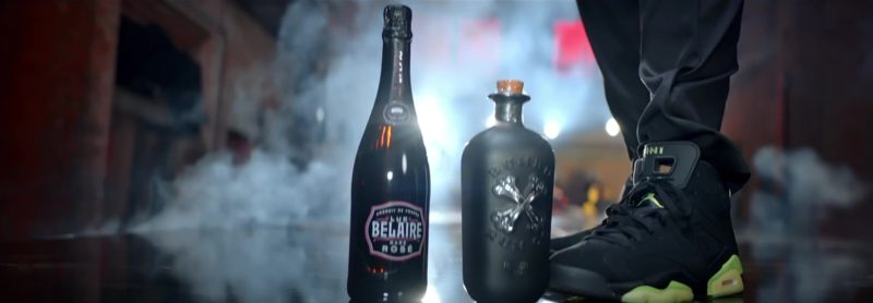 """Jordan Black Hi Top Sneakers, Luc Belaire Sparkling Wine, Bumbu Rum in """"Wish Wish"""" by DJ Khaled ft. Cardi B, 21 Savage (2019) - Official Music Video Product Placement"""