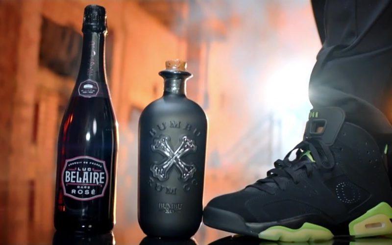 Jordan Black Hi Top Sneakers, Luc Belaire Sparkling Wine, Bumbu Rum (2)
