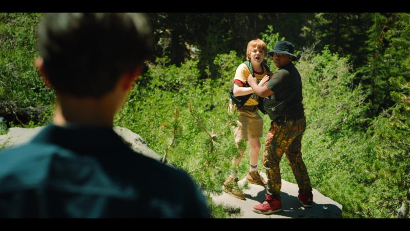Jordan Red Sneakers Worn by Benjamin Flores Jr. in Rim of the World (2019) - Movie Product Placement