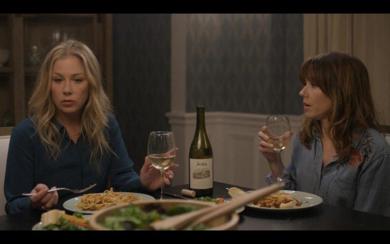 Jordan Winery Bottle Drunk by Linda Cardellini & Christina Applegate in Dead to Me (1)