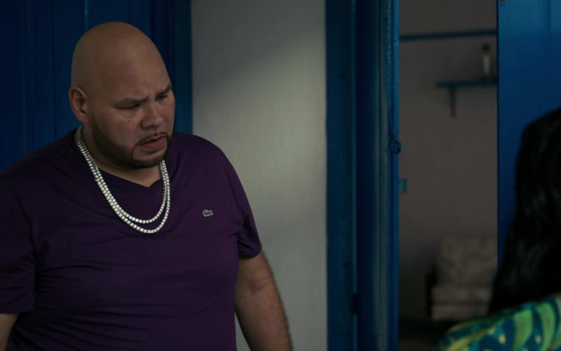 Lacoste Purple T-Shirt Worn by Fat Joe in She's Gotta Have It (1)