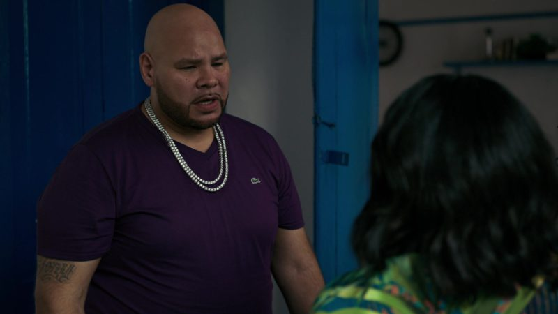Lacoste Purple T-Shirt Worn by Fat Joe in She's Gotta Have It - Season 2, Episode 7, #OhJudoKnow? (2019) TV Show Product Placement