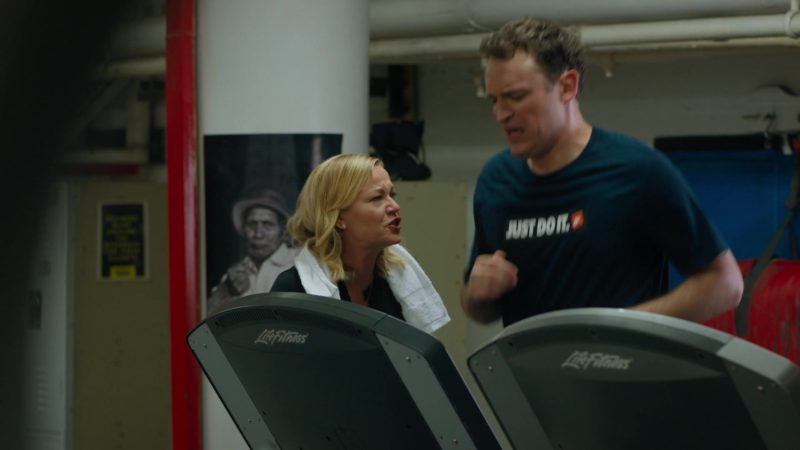 Life Fitness Treadmill and Nike T-Shirt Worn by Dan Soder (Mafee) in Billions - Season 4, Episode 8, Fight Night (2019) - TV Show Product Placement