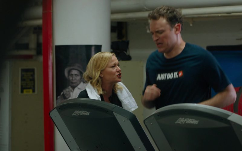 Life Fitness Treadmill and Nike T-Shirt Worn by Dan Soder (Mafee) in Billions