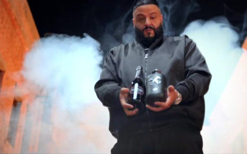 Luc Belaire Sparkling Wine and Bumbu Rum Held by DJ Khaled