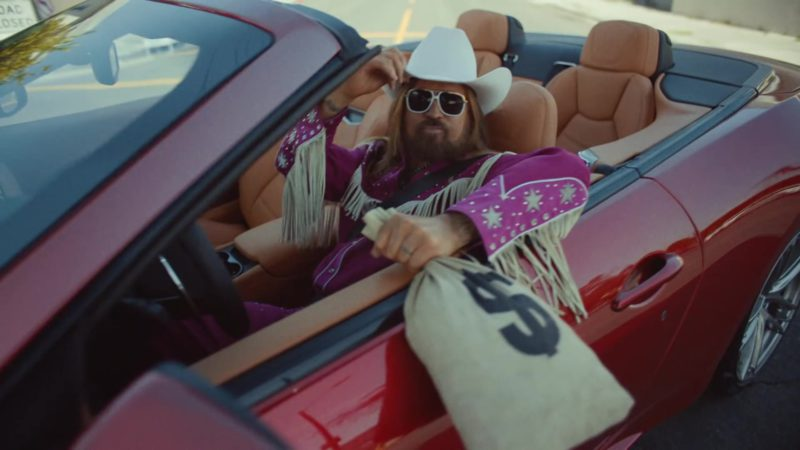"Maserati GT Convertible Red Sports Car in ""Old Town Road"" by Lil Nas X ft. Billy Ray Cyrus (2019) - Official Music Video Product Placement"
