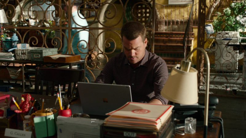 Microsoft Surface Notebook Used by Chris O'Donnell in NCIS: Los Angeles - Season 10, Episode 23, The Guardian (2019) TV Show Product Placement