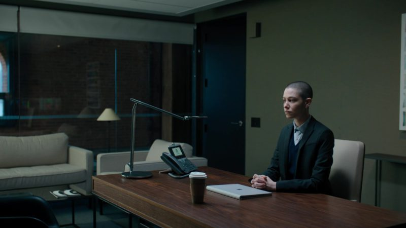 Microsoft Surface Notebook and Cisco Phone Used by Asia Kate Dillon (Taylor Mason) in Billions - Season 4, Episode 8, Fight Night (2019) - TV Show Product Placement