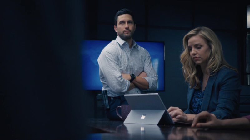 Microsoft Surface Tablet Used by Kelli Garner in The Enemy Within – Season 1, Episode 12, Sequestered (2019) - TV Show Product Placement
