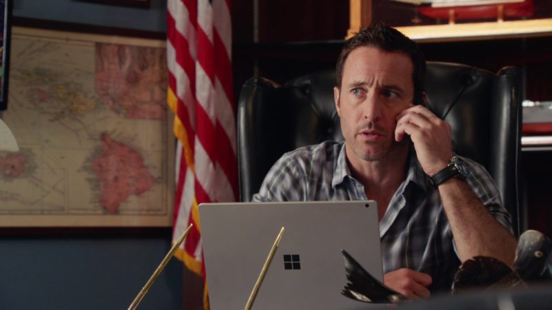 Microsoft Surface Laptop Used by Alex O'Loughlin in Hawaii Five-0 - Season 9, Episode 25 (2019) - TV Show Product Placement