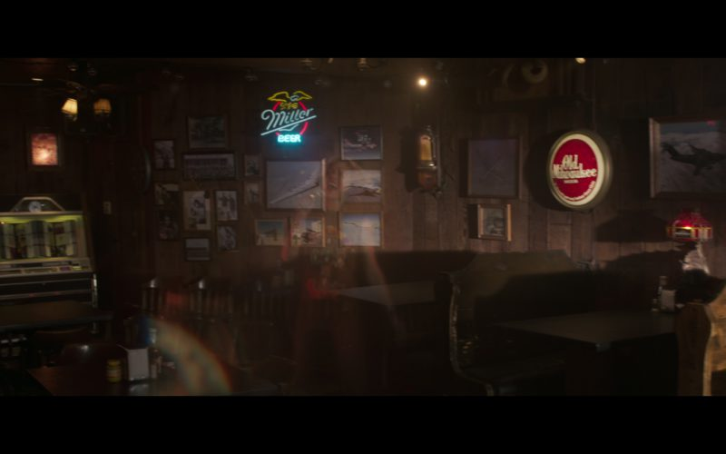 Miller and Old Milwaukee Beer Signs in Captain Marvel