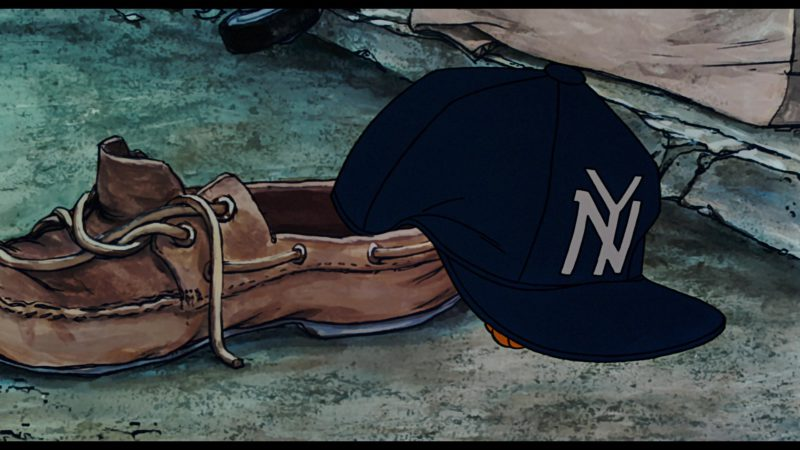 NY Yankees Cap in in Oliver & Company (1988) - Animation Movie Product Placement
