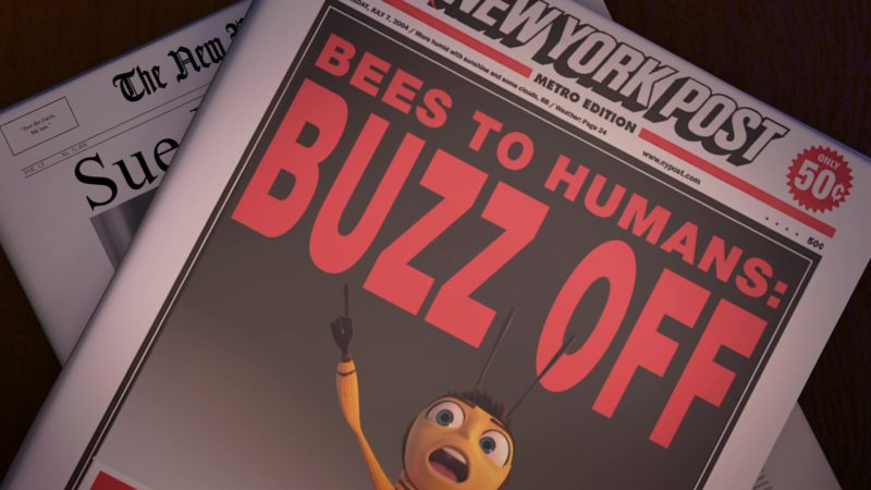 New York Post Newspaper in Bee Movie (2007) - Animation Movie Product Placement
