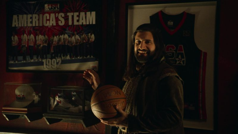 Nike Shoe and Wilson Basketball Held by Kayvan Novak in What We Do in the Shadows - Season 1, Episode 8, Citizenship (2019) TV Show Product Placement