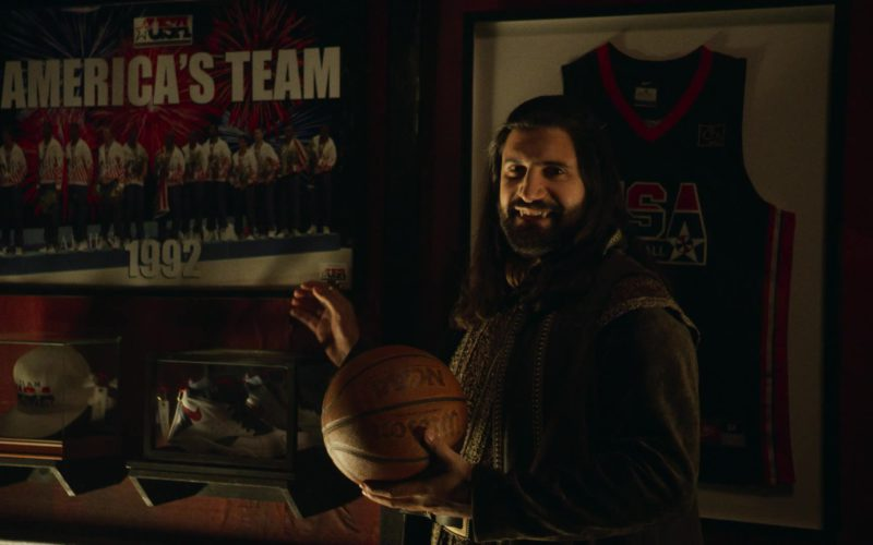 Nike Shoe and Wilson Basketball Held by Kayvan Novak in What We Do in the Shadows
