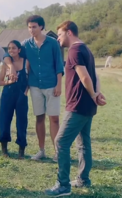 Nike Sneakers (Blue) Worn by Jack Reynor in Midsommar (2019) Movie Product Placement