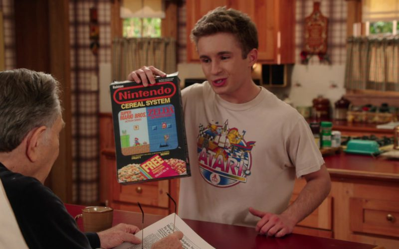 Nintendo Cereal System Held by Sean Giambrone in The Goldbergs