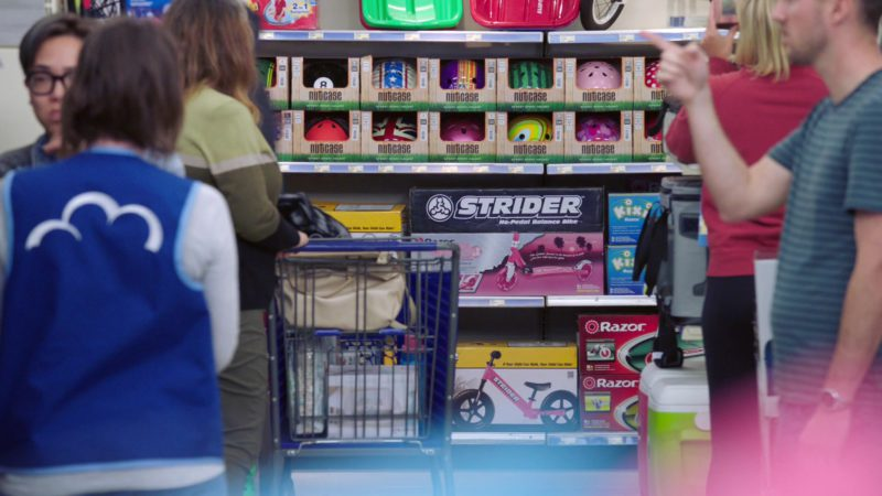 Nutcase Bicycle Helmets, Strider Bikes, Razor in Superstore - Season 4, Episode 22, Employee Appreciation Day (2019) - TV Show Product Placement