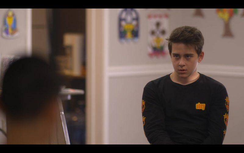 Obey Sweatshirt Worn by Sam McCarthy in Dead to Me