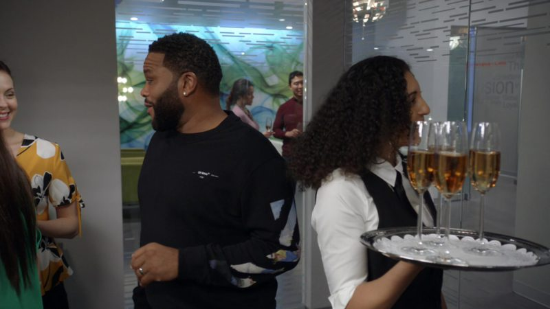 Off-White Sweatshirt Worn by Anthony Anderson in Black-ish - Season 5, Episode 22, Is It Desert or Dessert? (2019) TV Show Product Placement