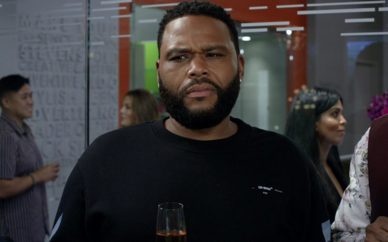 Off-White Sweatshirt Worn by Anthony Anderson in Black-ish (4)