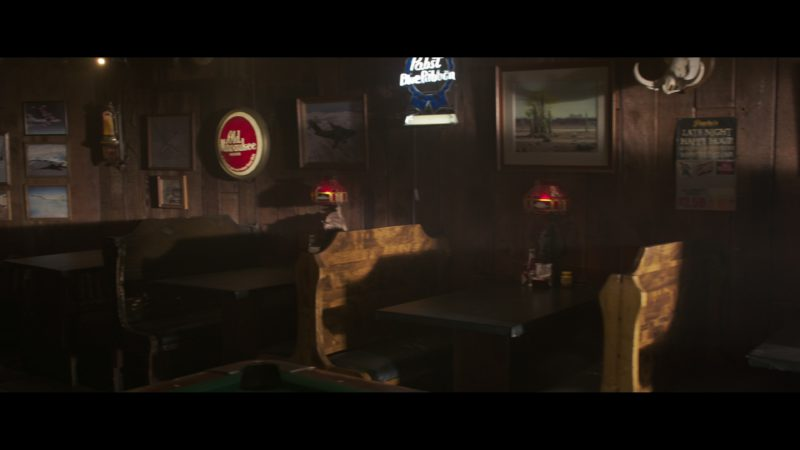Old Milwaukee & Pabst Blue Ribbon Beer Signs in Captain Marvel (2019) - Movie Product Placement
