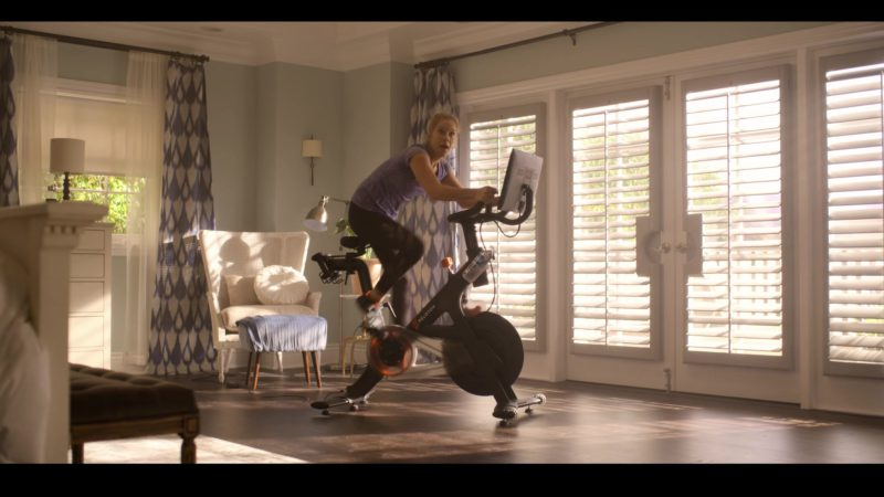Peloton Indoor Exercise Bike with Online Streaming Classes Used by Christina Applegate in Dead to Me - Season 1, Episode 4 (2019) - TV Show Product Placement